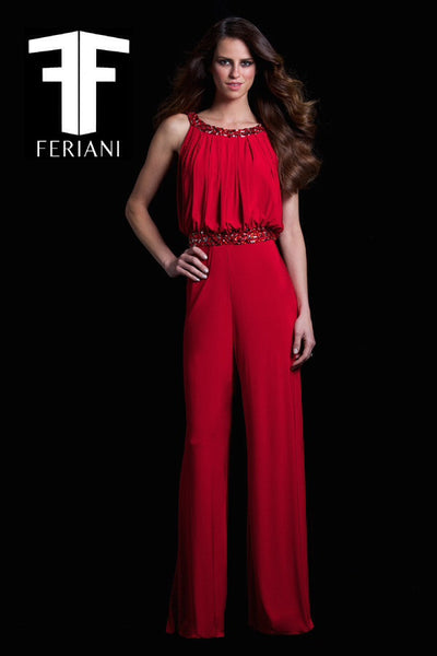 Feriani 18345 Red Jumpsuit