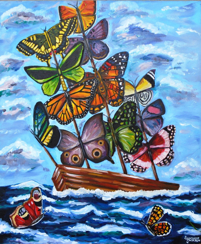Butterfly Sails Canvas Print
