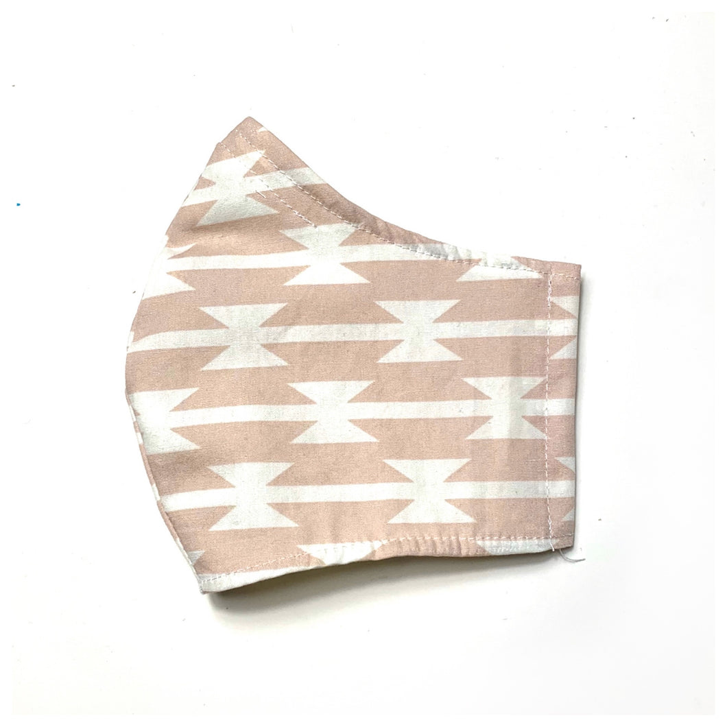 Women's Fitted Mask in Aztec