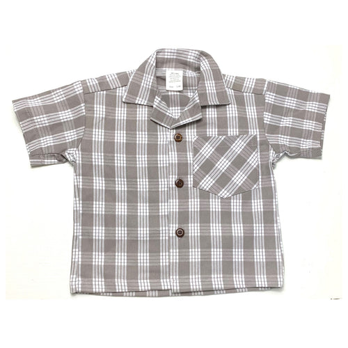 Grey Palaka Button Up