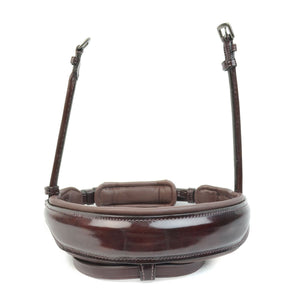 Bridle2Fit S1 Wide Snaffle Noseband (Brown & Australian Nut Patent Leather)