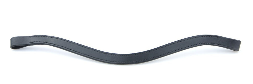 Black Leather Large Stone and Plain Browbands by Bridle2Fit
