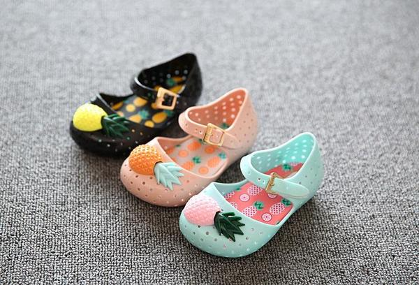 Kids Pineapple Jelly Sandals