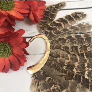 'Wardance' Bohemia Feather Cuff Earring