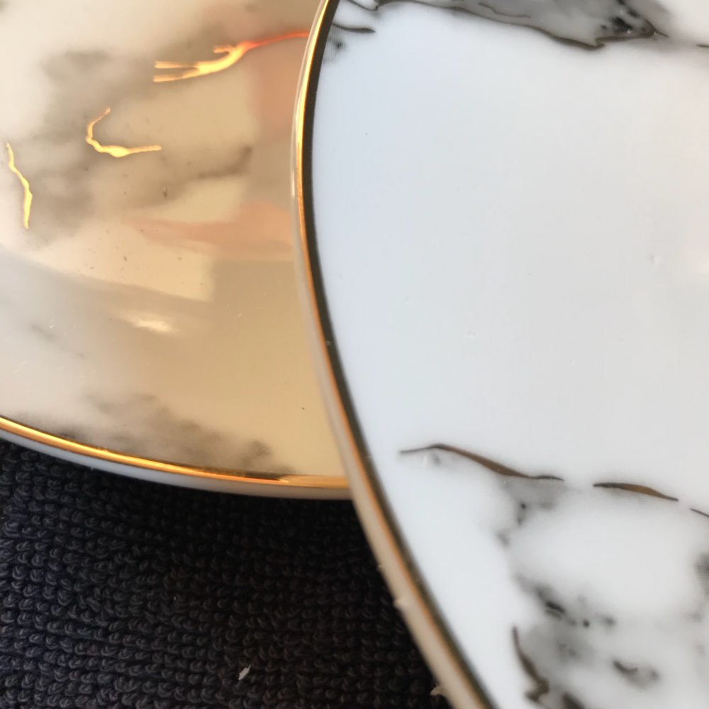 Gilded Marble Plates