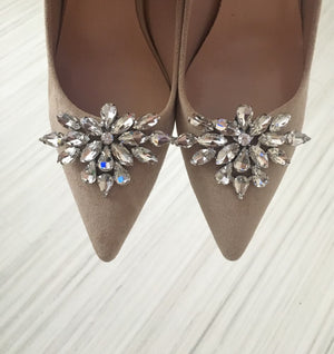 2Pcs Decorative Crystal Rhinestone Shoe Clips