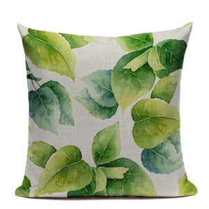 Modern Tropical Vibes Glam Square Pillow Covers (Assorted Designs)