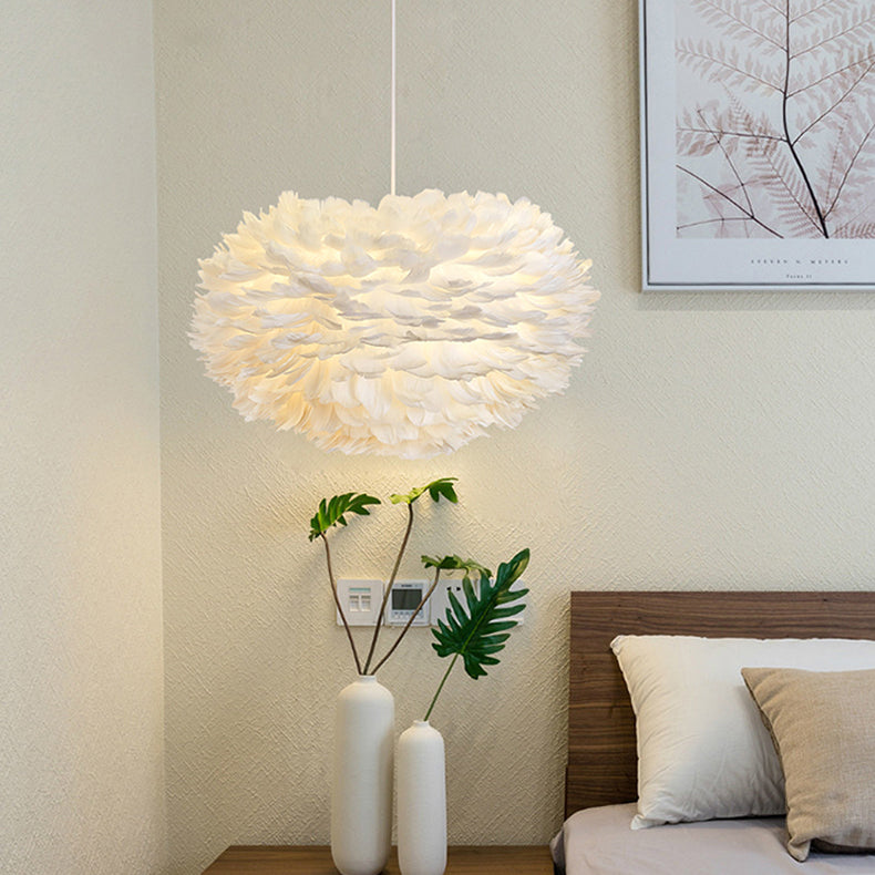 Goose Feather Suspension Luminaire Pendant Lamp