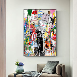 Abstract Einstein Pop Art Canvas Prints