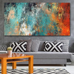 Abstract Clouds Colorful Canvas Painting Art Home Decor No FrameHome
