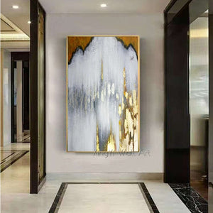Gold leaf Canvas Painting Wall Art