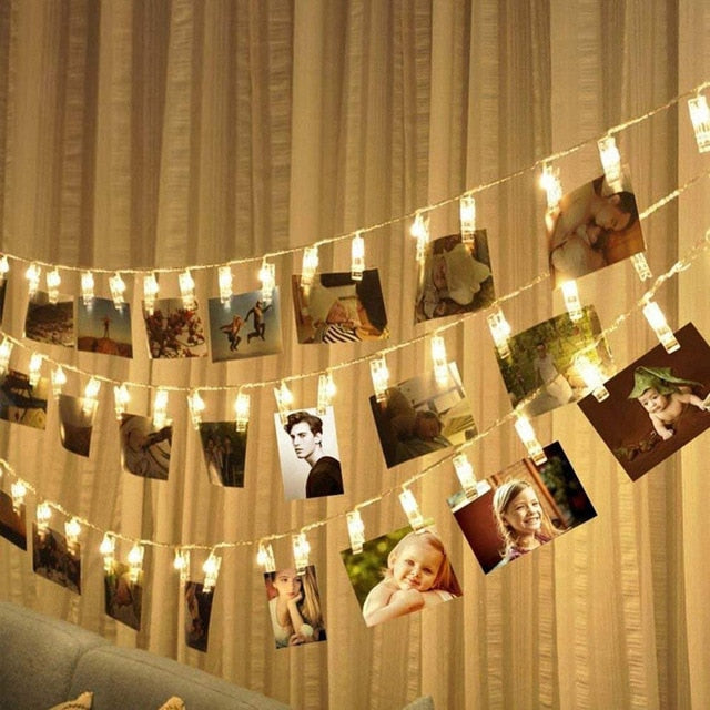1.5M 3M 6M Photo Clip Holder LED String Lights
