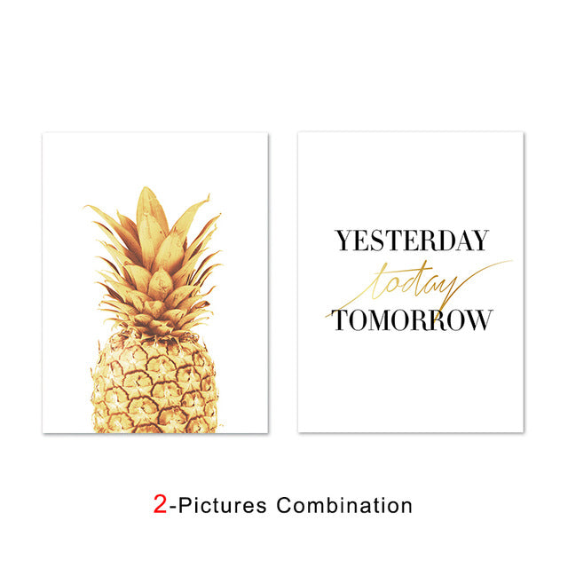 Pink Ananas Posters Plants Pineapple Wall Art