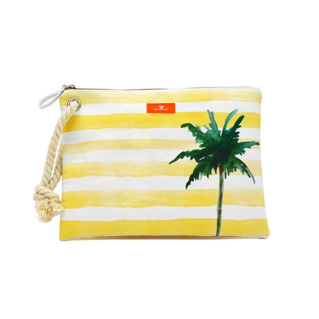 Waterproof Lining Beach Bag Hemp Rope Clutch Bags