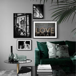 Black And White Vintage Wall Posters Prints Unframed