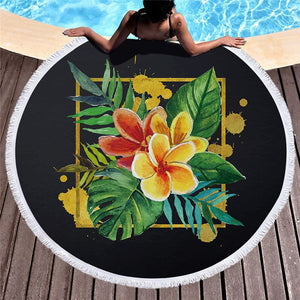 Tropical Plants Microfiber Beach Towel