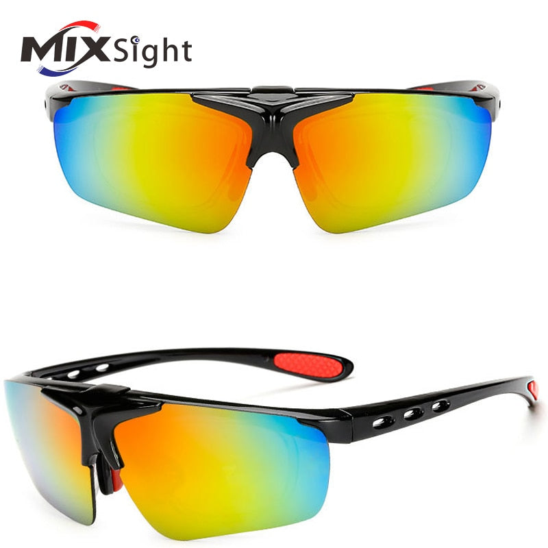 FLIP-UP LENS CYCLING SUNGLASSES UV400 PROTECTION