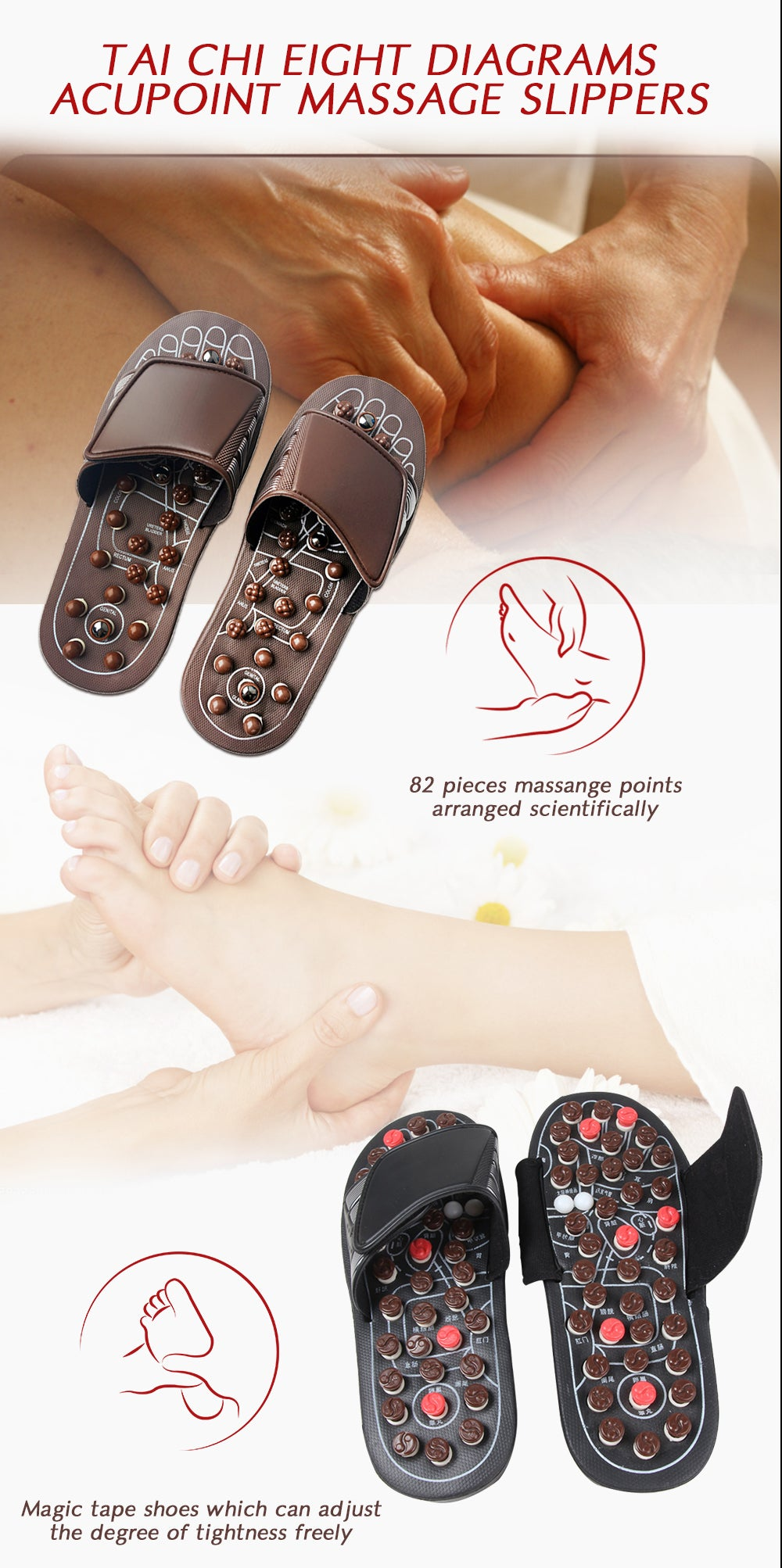 Load image into Gallery viewer, TAI-CHI MASSAGE SLIPPERS