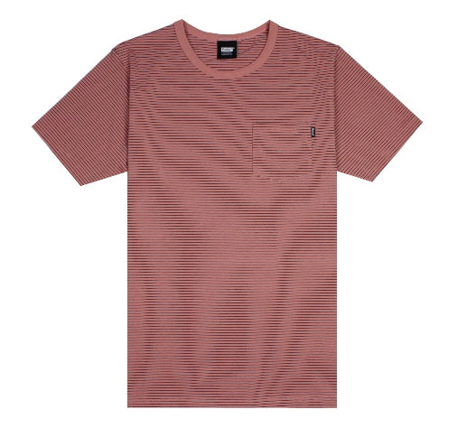Belief Stripped Pocket Tee