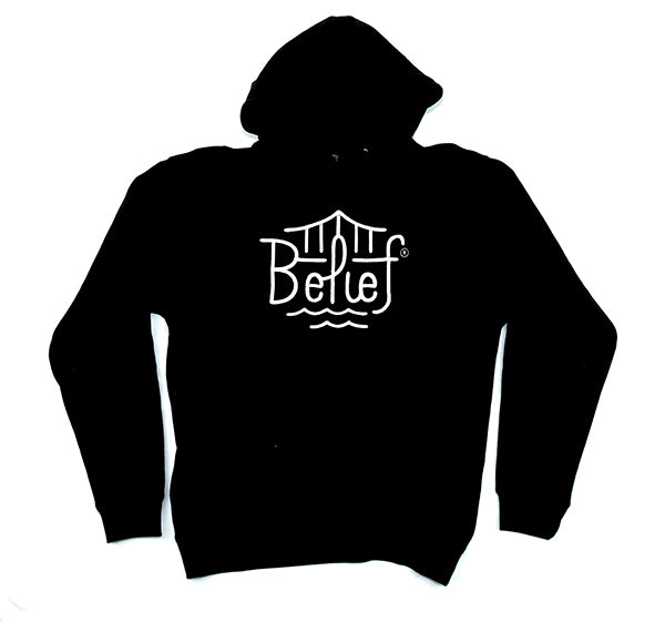 BELIEF Black Triboro Hoody