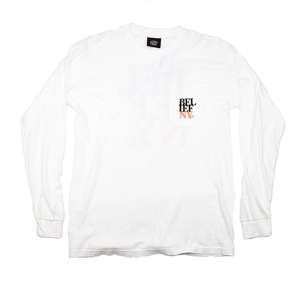 BELIEF White Stacked L/S