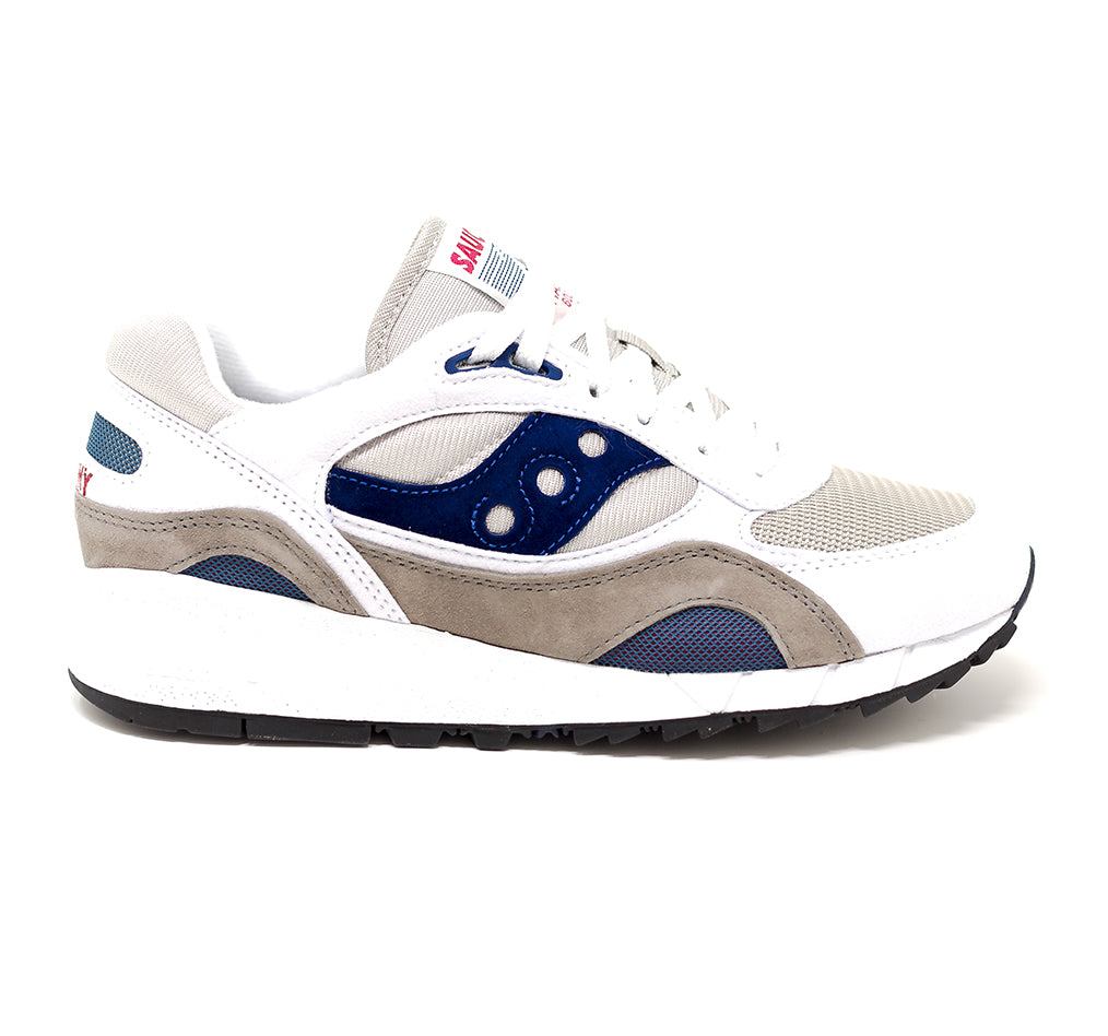 Saucony Shadow 6000- Wht/Gry/Nvy