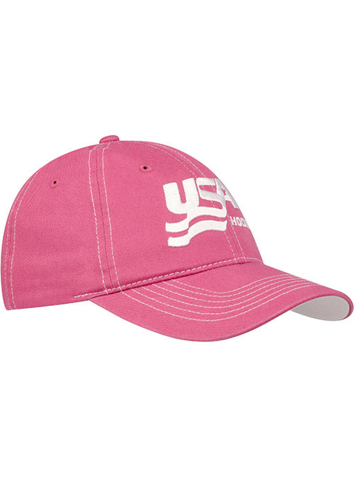 Ladies USA Hockey Pink Adjustable Hat