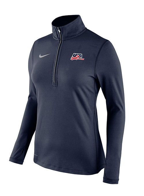Ladies Nike USA Hockey 1/4 Zip Element Jacket