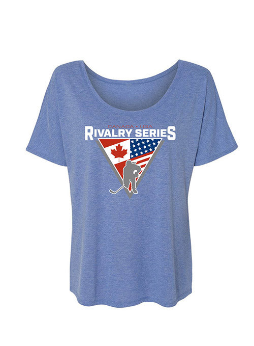 Ladies USA Hockey Rivalry Series Slouchy T-Shirt