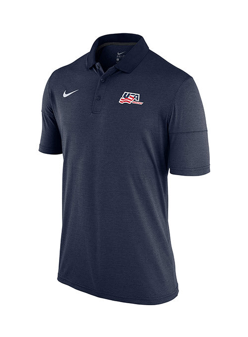 Nike USA Hockey Heathered Secondary Logo Polo