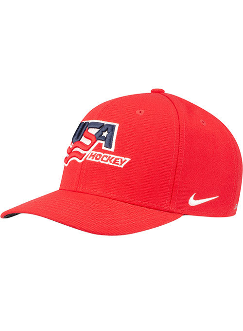 Nike USA Hockey Classic99 Red Adjustable Hat