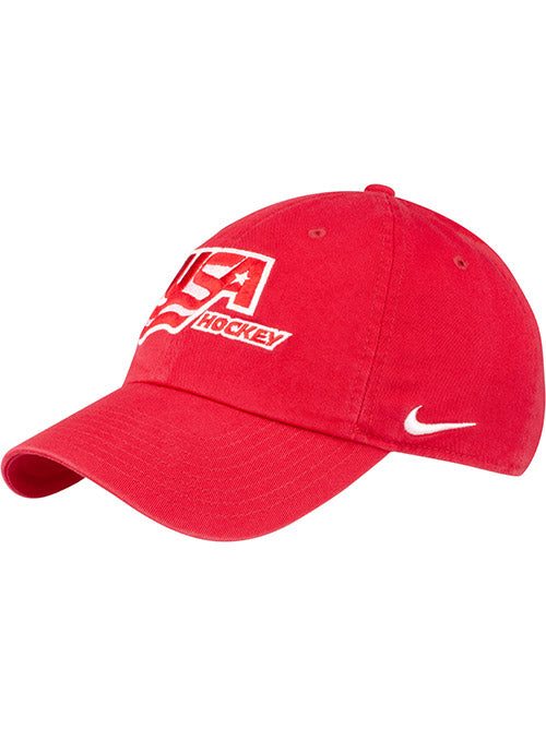 Nike USA Hockey Heritage86 Red Adjustable Hat