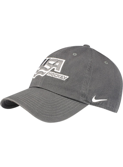 Nike USA Hockey Heritage 86 Grey Adjustable Hat