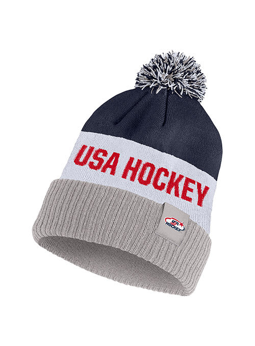 Nike USA Hockey Classic Stripe Knit Hat