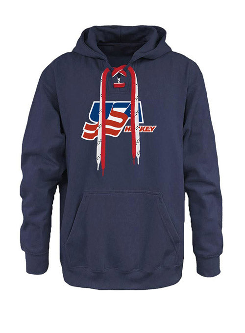 USA Hockey Faceoff Two-Lace Hooded Sweatshirt