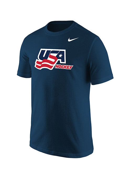Nike USA Hockey Cotton Secondary Logo T-Shirt