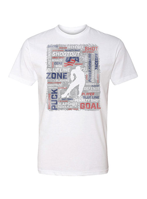 USA Hockey Terms Graphic T-Shirt