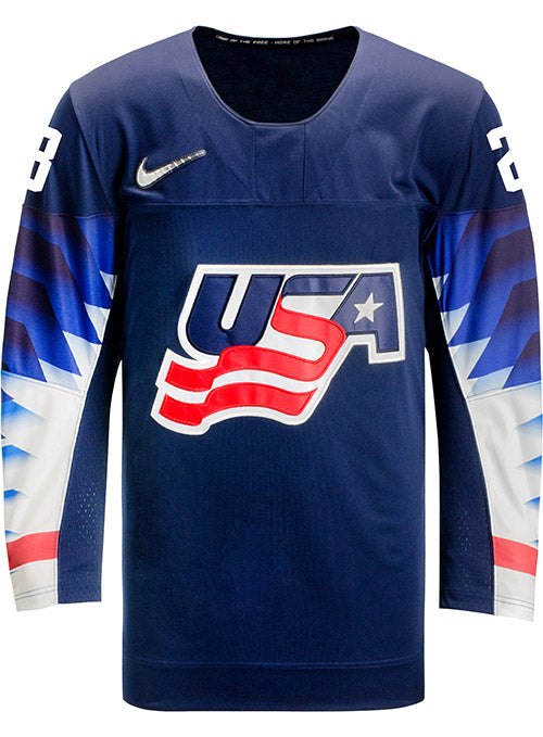 Nike USA Hockey Sidney Morin Away Jersey