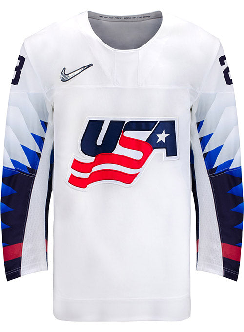 Nike USA Hockey Sidney Morin Home Jersey
