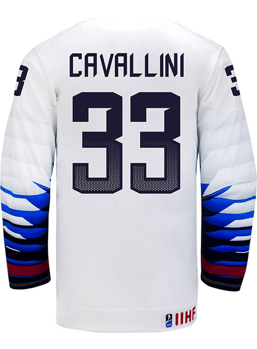Nike USA Hockey Alex Cavallini Home Jersey