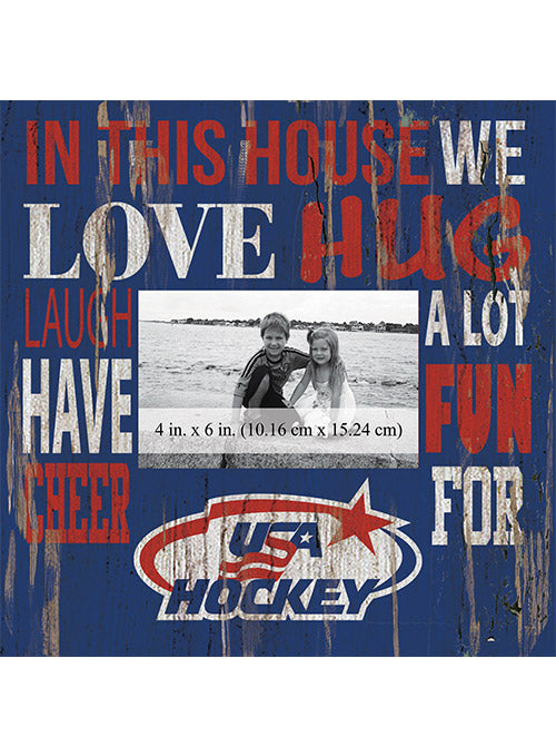 USA Hockey 10 x 10-Inch In This House Picture Frame