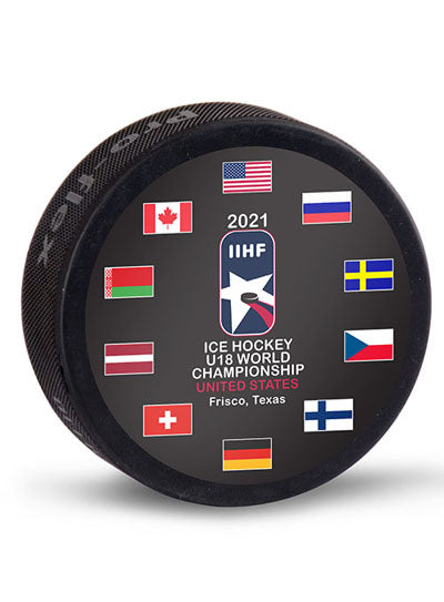 2021 IIHF Ice Hockey U18 World Championship Puck