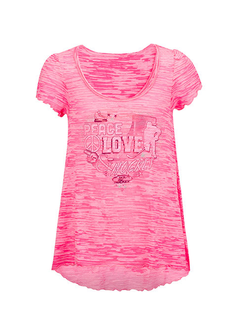 Girls USA Hockey Peace, Love, and Hockey T-Shirt