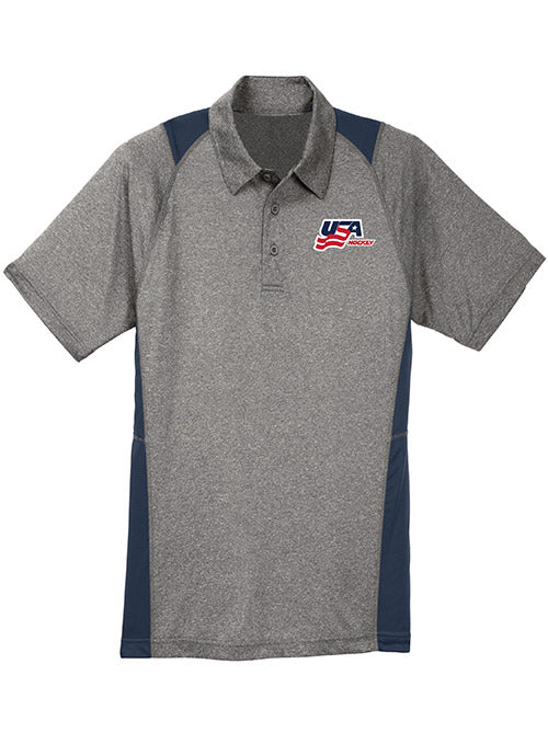 USA Hockey Colorblock Contender Polo
