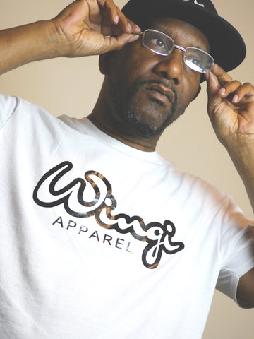 Classic White & Black Wingi Apparel T-Shirt - Wingi Apparel