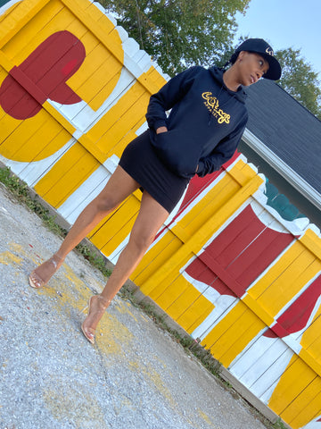 Black and Gold Wingi Apparel Hoodie