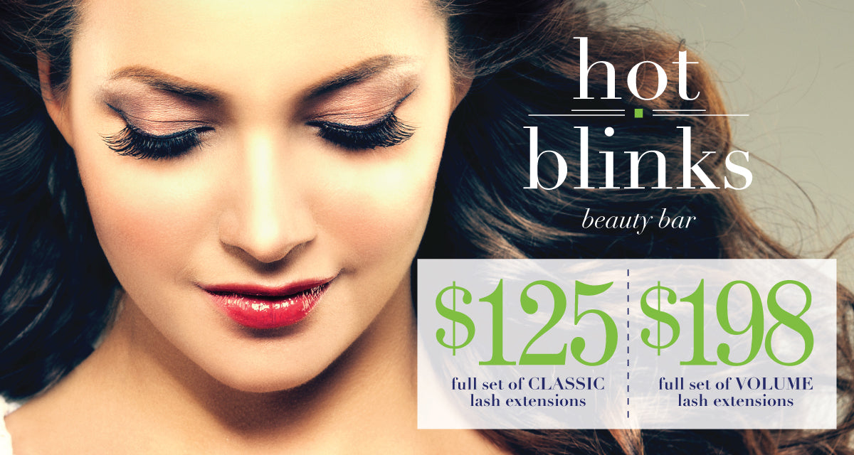 $125 for Full Set of Classic Lash Extensions or $198 for full set of Volume Lash Extensions