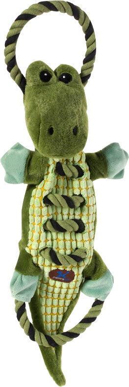Charming Pet Products-Ropes-a-go Go Gator Dog Toy