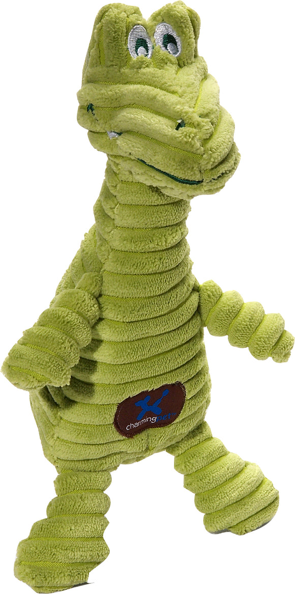 Charming Pet Products-Squeakin' Squiggles Gator Dog Toy