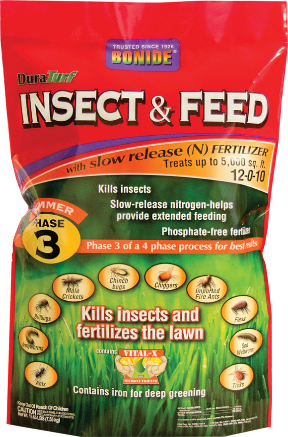 Bonide Fertilizer - Duraturf Insect & Feed For Lawns